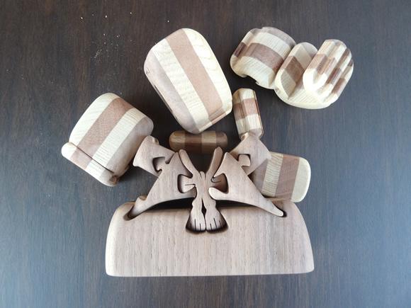 兜飾(カブトカザリ)組木