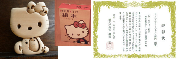 HELLO KITTY 組木