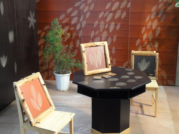 デザイン葉脈天然木化粧合板